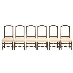 Incredible Set of 6 French Os de Mouton Side Chairs w/Framed Backs