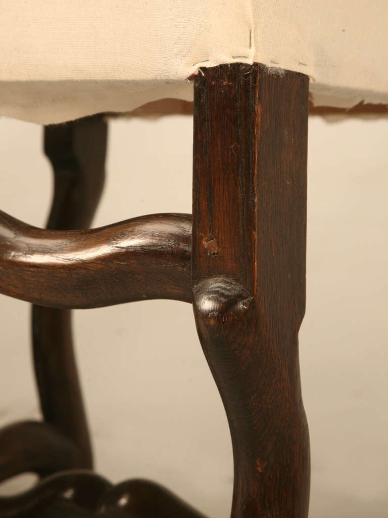 Incredible Set of 6 French Os de Mouton Side Chairs w ...