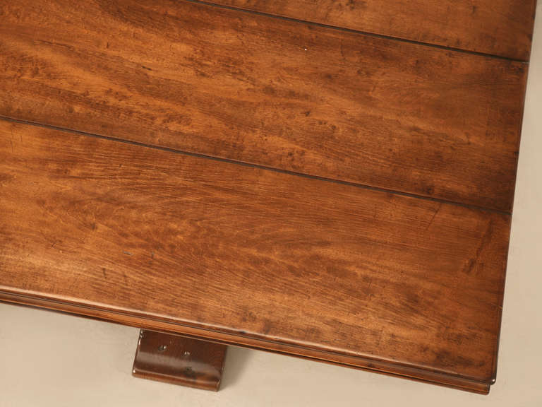 American French Style Trestle Dining Table Made in Chicago by Old Plank For Sale
