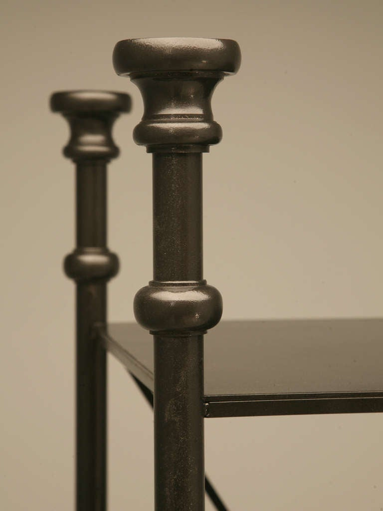 Industrial Style Etagere in Steel and Bronze 4