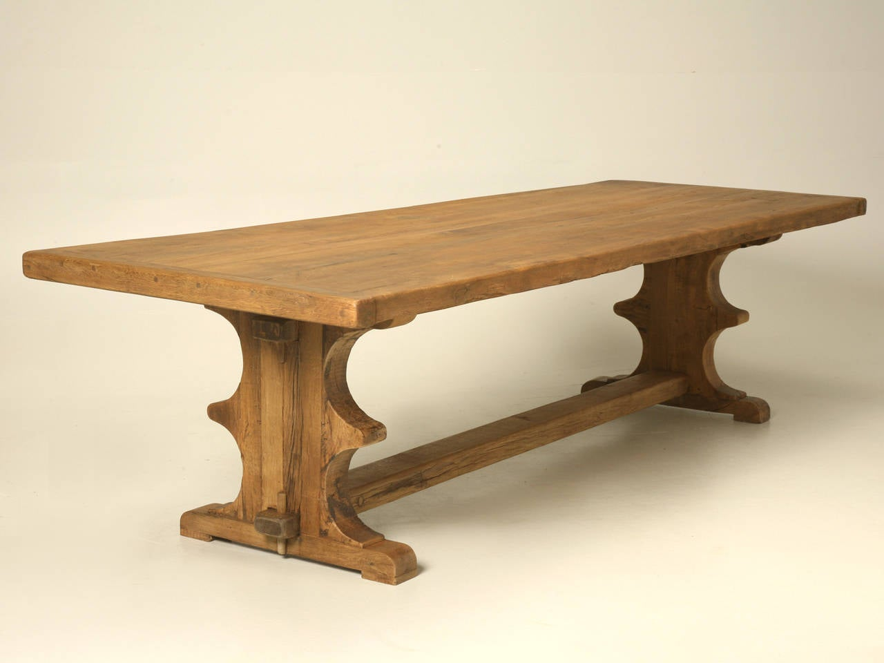 Antique french white oak trestle dining table at 1stdibs Trestle dining table