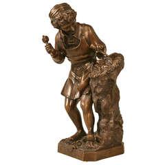 Vintage French Bronze Sculpture