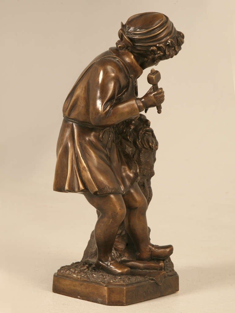 Vintage french bronze sculpture for sale at 1stdibs - Bronze sculptures for sale ...