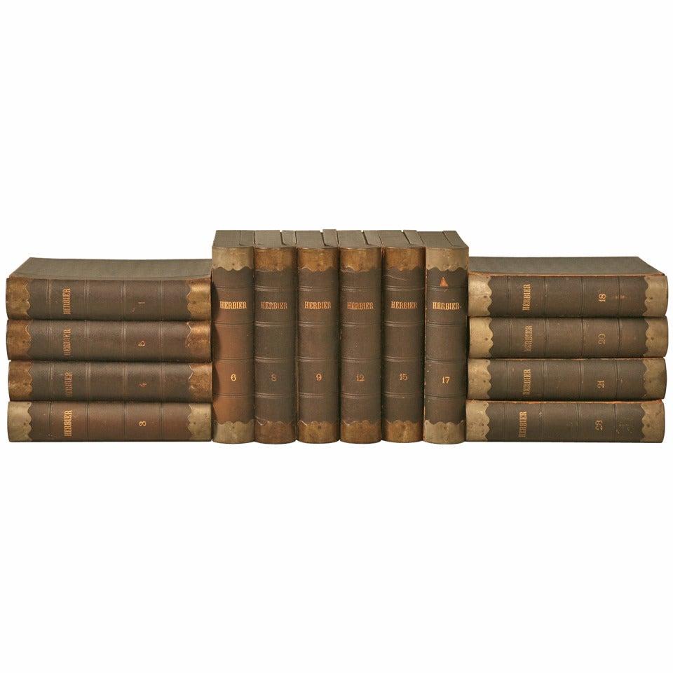 Circa 1887-1900 Herbier, Pressed Botanical Books by Henri Dard