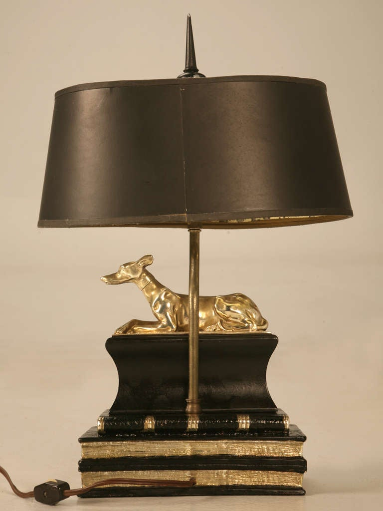 Stately Vintage Chapman Desk Or Table Lamp W Statuesque