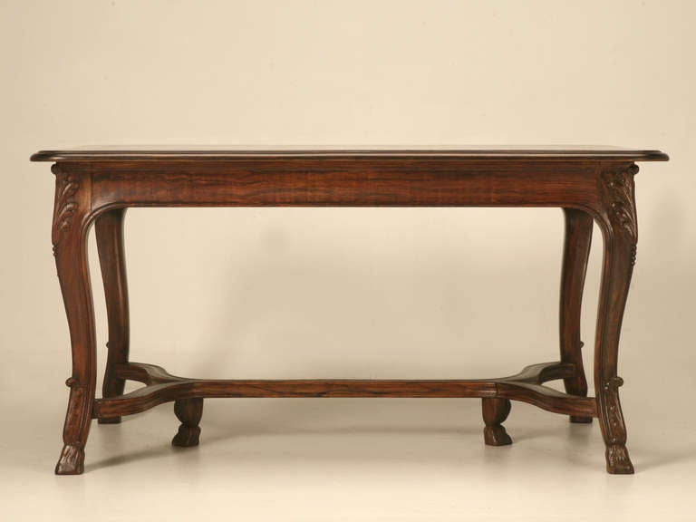 French Dining Table With Pull Out Leaves Circa 1930s For