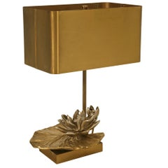 """Maison Charles """"Water Lily"""" Lamp in Doré Bronze, 1stdibs New York"""