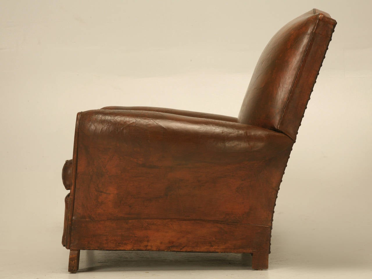 French art deco leather club chair circa 1930s at 1stdibs for Examples of art deco furniture