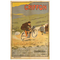 Motorcycle Poster by Walter Thor, circa 1910