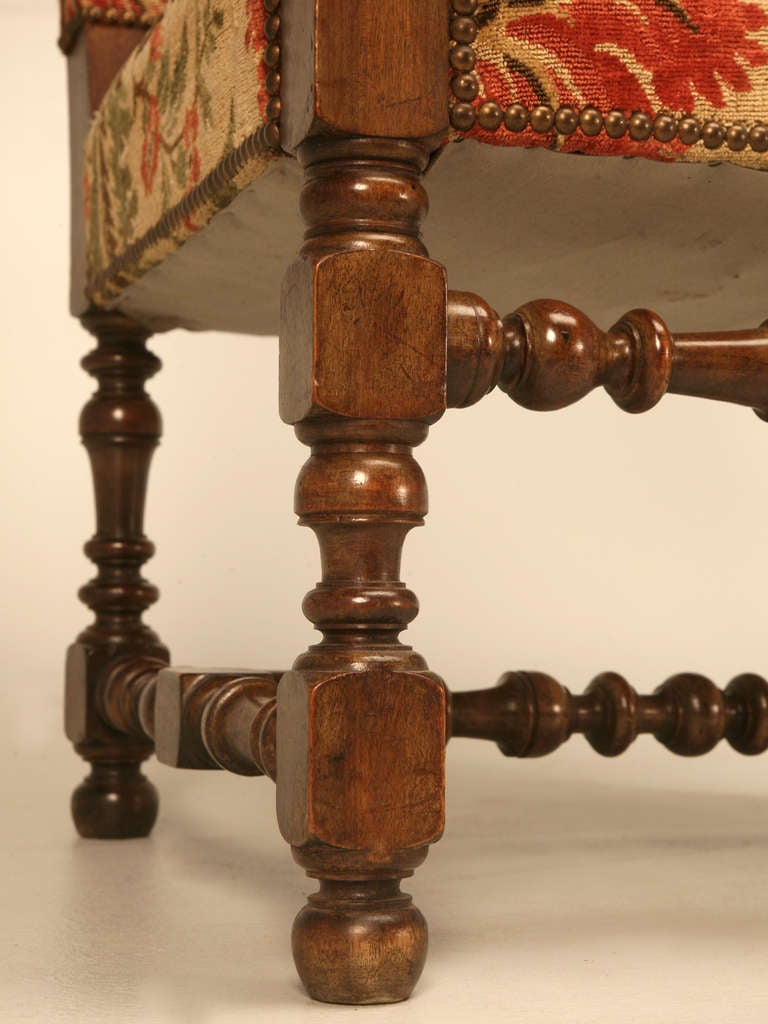 Magnificent Antique French Throne Chair w/Carved Ram Heads For Sale 3