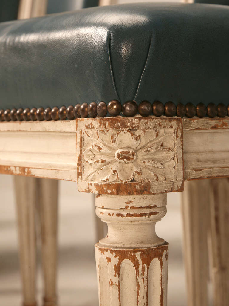 Antique french louis xvi style side chairs from chateau de l oise at