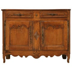 Country French Antique Buffet with Star and Diamond Motif