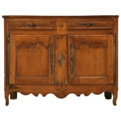 Country French Antique French Buffet with Star and Diamond Motif