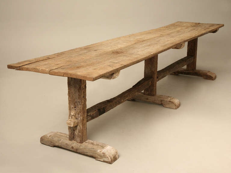spanish white oak rustic dining table circa 1900 at 1stdibs. Black Bedroom Furniture Sets. Home Design Ideas