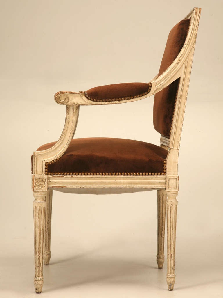Four original antique french louis xvi arm chairs fauteuils at 1stdibs