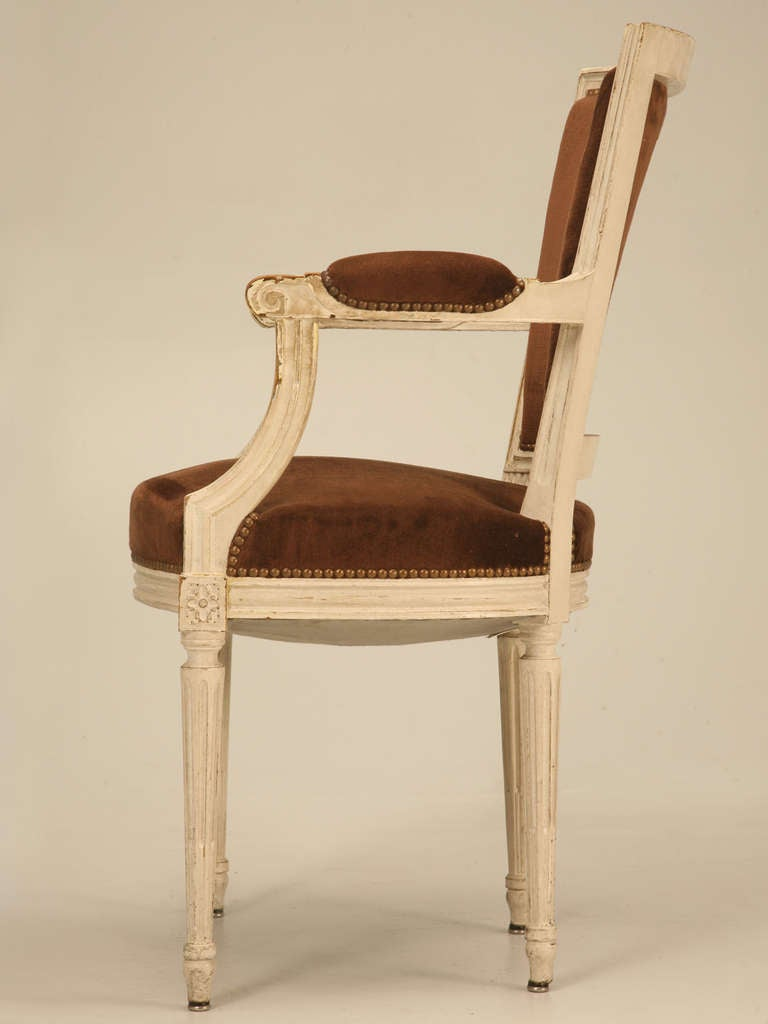 Pair of original antique french louis xvi arm chairs fauteuils image 9