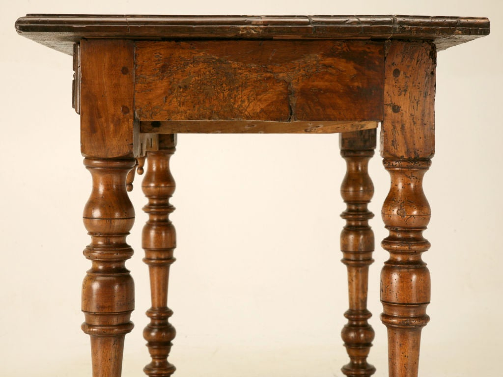 18th C. Antique French Fruitwood Writing Table with Drawer For Sale 3