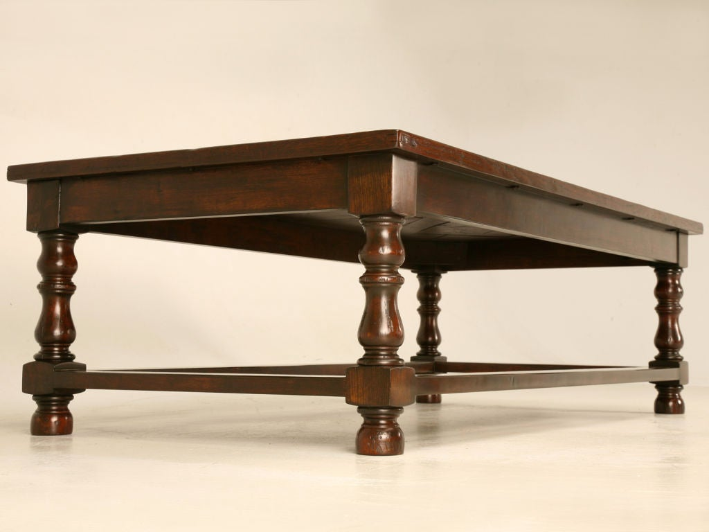 Stunning Large 60 Solid Oak Parquet Topped Coffee Table At 1stdibs