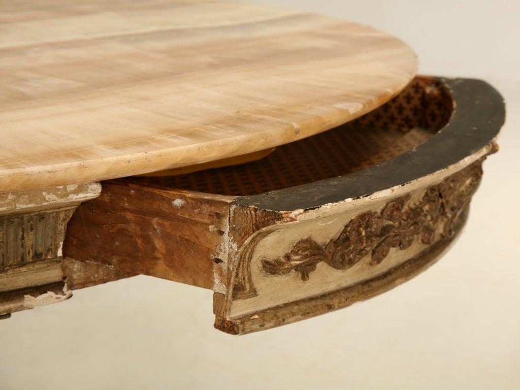 Antique Italian Original Paint & Polychrome Tea Table with Onyx Top 5