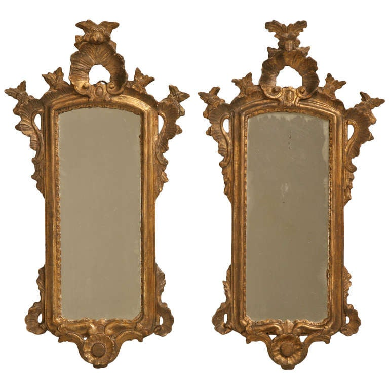 Pair of 18th Century Italian Rococo Mirrors