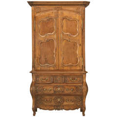 French Walnut Cupboard or Cabinet, circa 1800