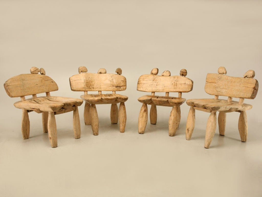 hand carved by jerzy s kenar sheep adorned dining set