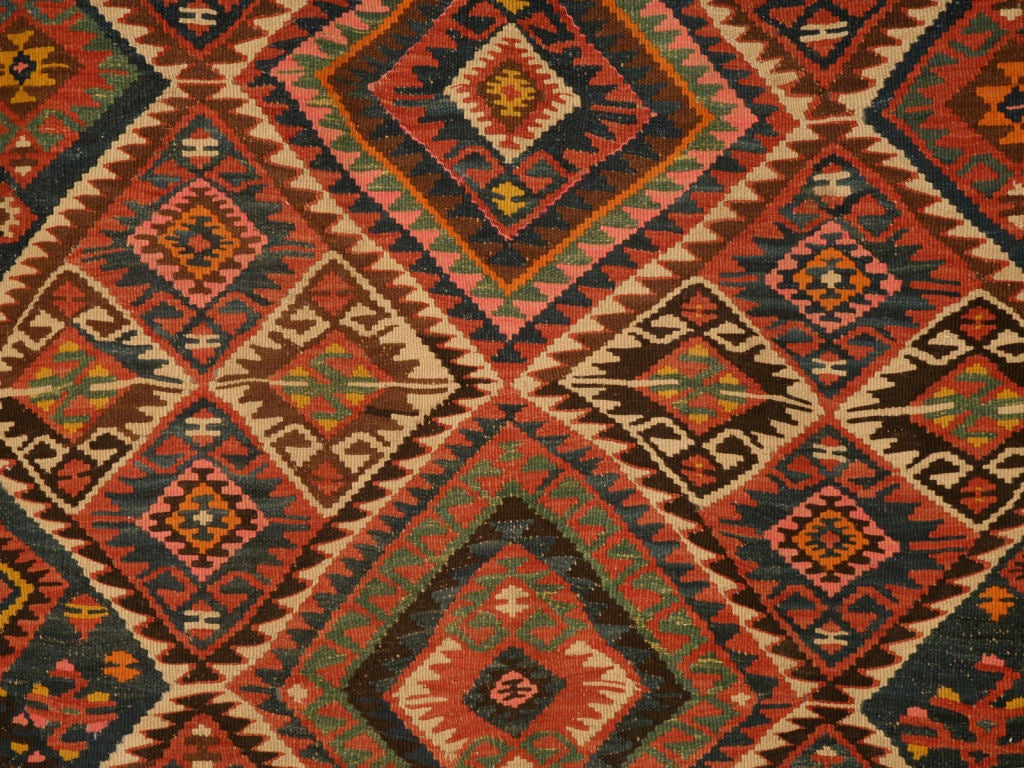 Circa1930 Persian Kilim Geometric Patterned Rug At 1stdibs