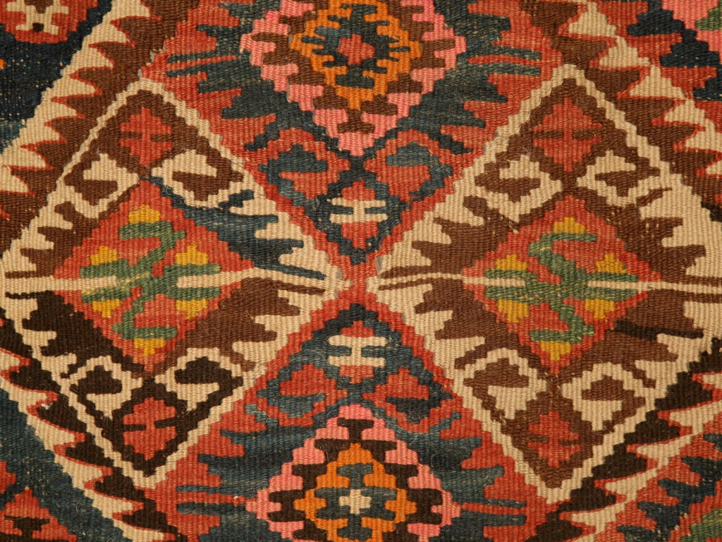 Circa1930 Persian Kilim Geometric Patterned Rug At 1stdibs