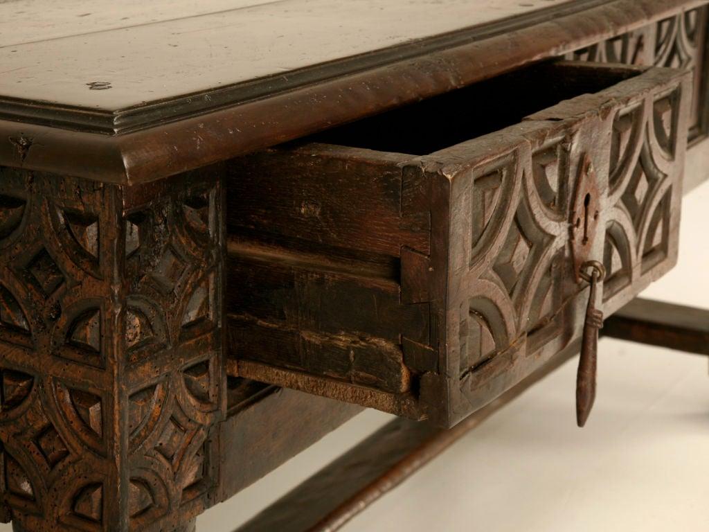 Original Antique Spanish Walnut Sofa Table Or Desk At 1stdibs