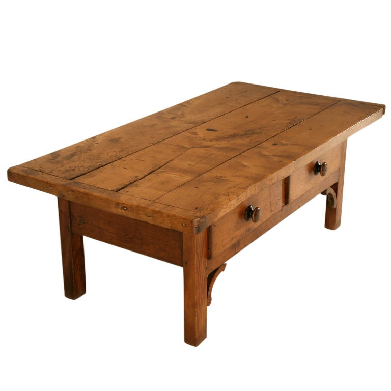 Circa 1840 Antique English Sycamore 2 Drawer Coffee Table At 1stdibs