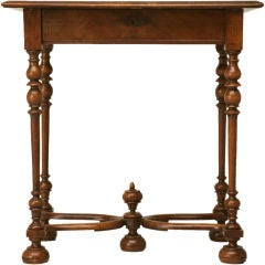 Circa 1880 Petite Antique French Walnut Writing Table or Vanity