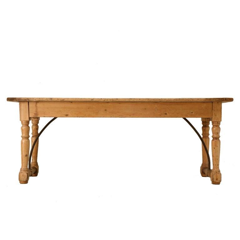 Circa 1820 Original Antique Irish Pine Work Table