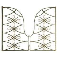 Original Pair of Vintage French Iron & Steel Gates/Firescreen, 1stdibs New York