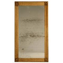 Original Gilt Framed Antique French Sugared Mirror