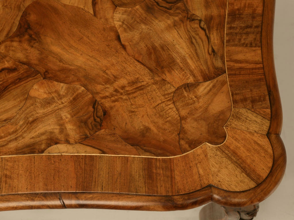 exotic hand carved italian oystered olive wood dining table image 6
