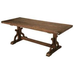 French Trestle Farm Table, circa 1840
