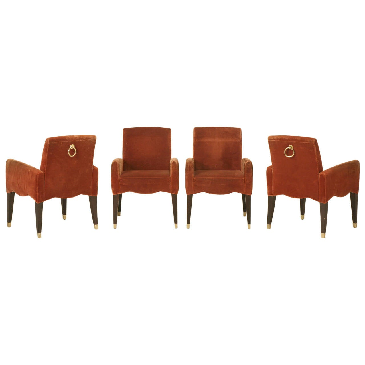 Olivier Gagnere's Cafe Marly Set of Four Armchairs For Sale