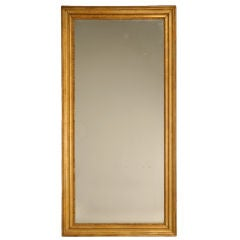 Original Gilt Framed Antique French Sugared Mirror