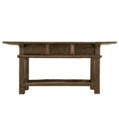 Original Rustic Spanish 3 Drawer Console/Work Table