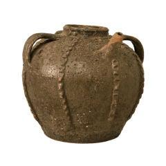 18th Century Handmade Antique French Walnut-Form Oil Jug