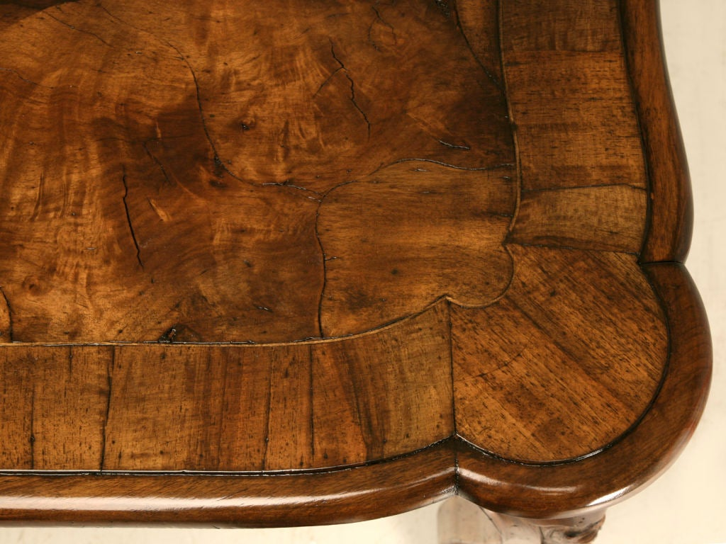 antique hand carved italian oystered olive wood dining table image 5
