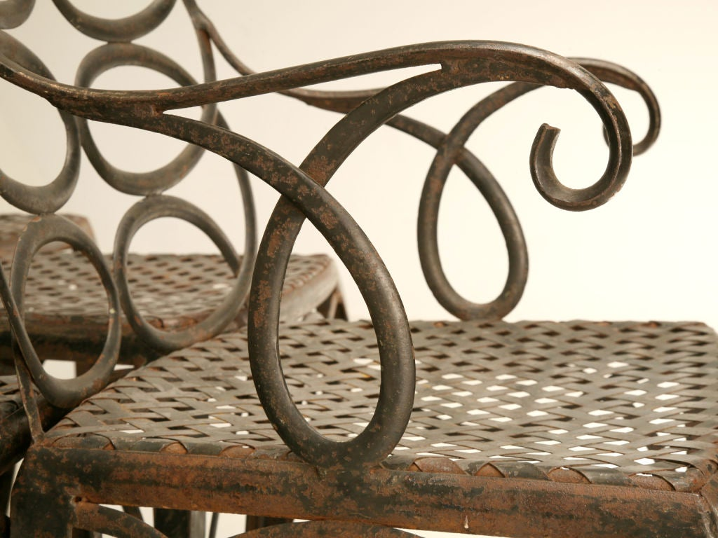 6 Vintage Forged Iron Loop Garden Chairs Att to Frances  : 824312877632883 from www.1stdibs.com size 1024 x 768 jpeg 118kB