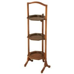 Vintage English Folding 3 Tier Cake or Muffin Stand