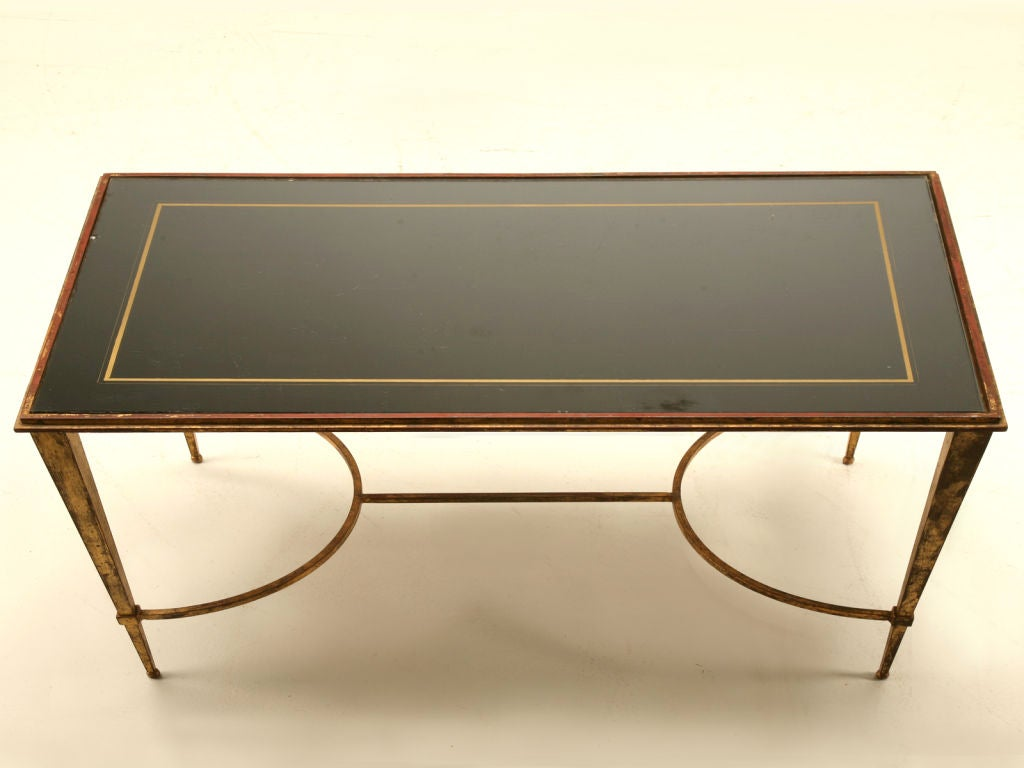 Vintage French Gilt Mirrored Top Coffee Table By Jacques Adnet At 1stdibs