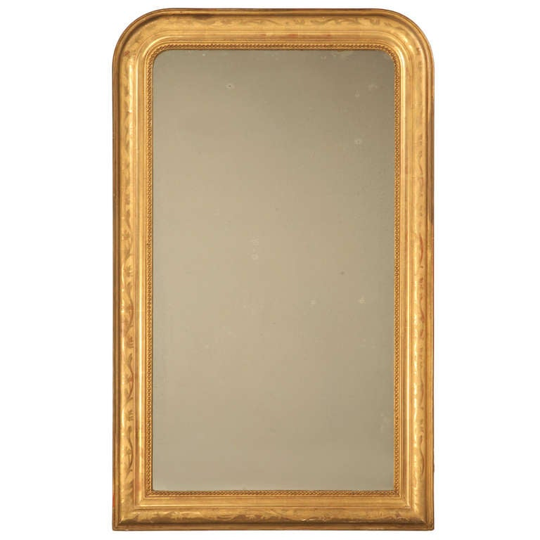"Jaw-Dropping 55 x 34"" Original Antique French Louis Philippe Gilt Mirror 1"