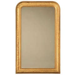 "Jaw-Dropping 55 x 34"" Original Antique French Louis Philippe Gilt Mirror"