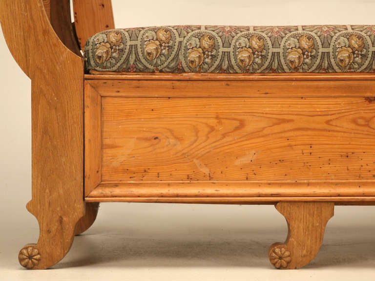 19th C. Danish Pine Sleeping Bench W/Curves in All the Right Places 9