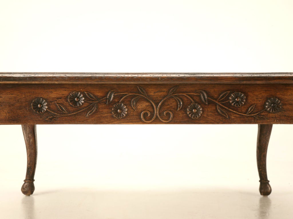 Vintage Square Carved Solid Oak Country French Coffee Table At 1stdibs