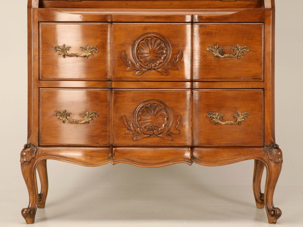 vintage french louis xv style secretary bookcase at 1stdibs. Black Bedroom Furniture Sets. Home Design Ideas