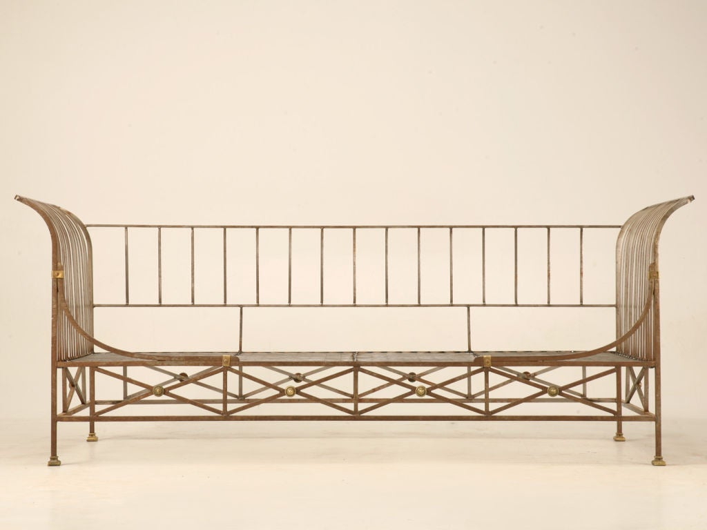 Vintage French Steel Directoire Style Sofa Daybed Frame 1